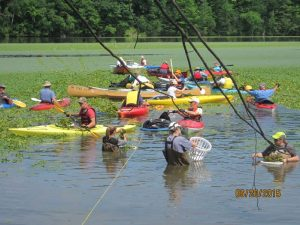 Waterchesnut Pull by Canoe @ Johnsonville Dam | Johnsonville | New York | United States