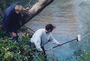 Trout Unlimited volunteers taking water samples